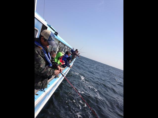 海釣りの様子